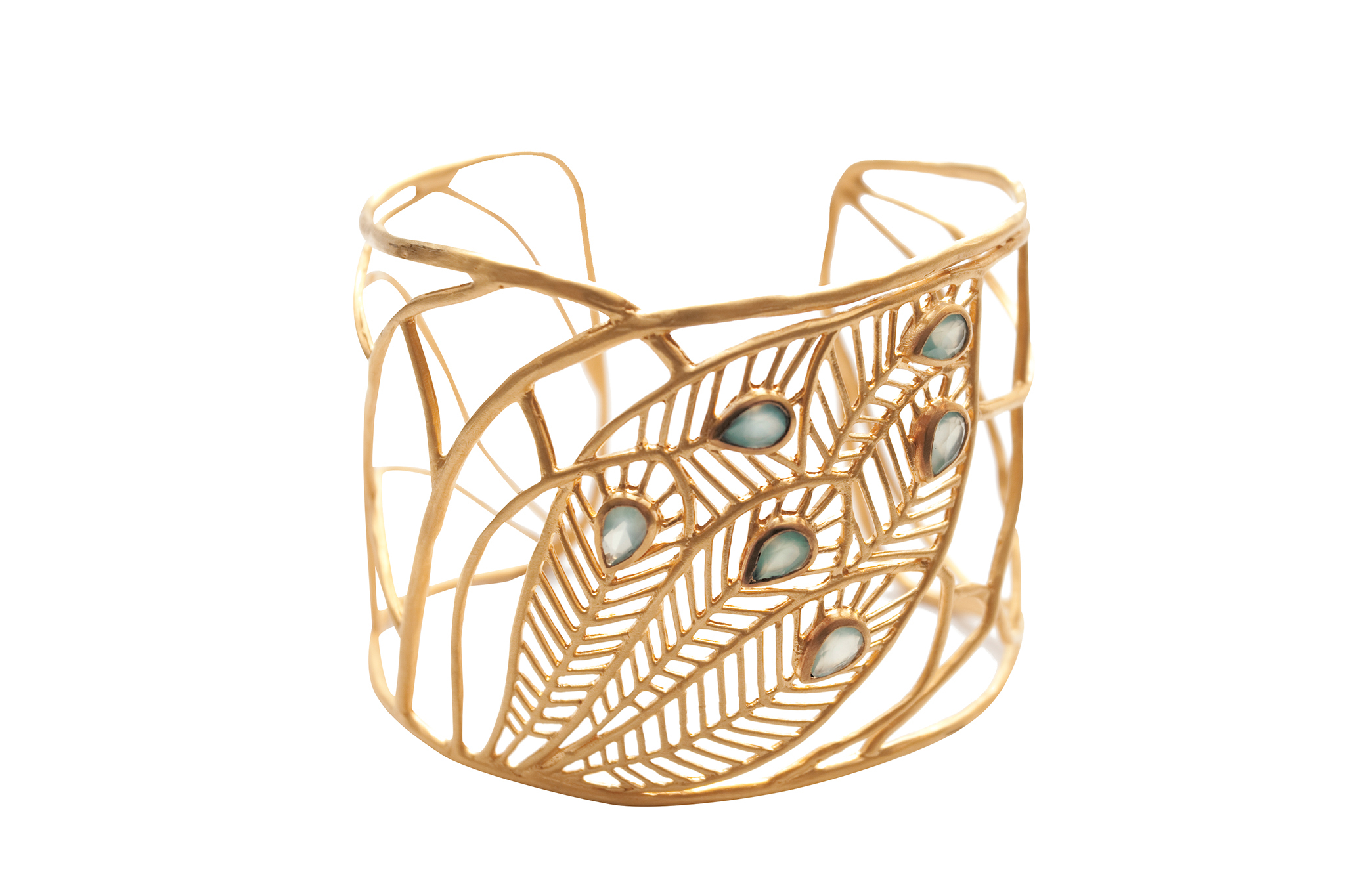 Satya agate-and-gold cuff, $128