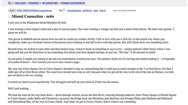 Craigslist dating chicago