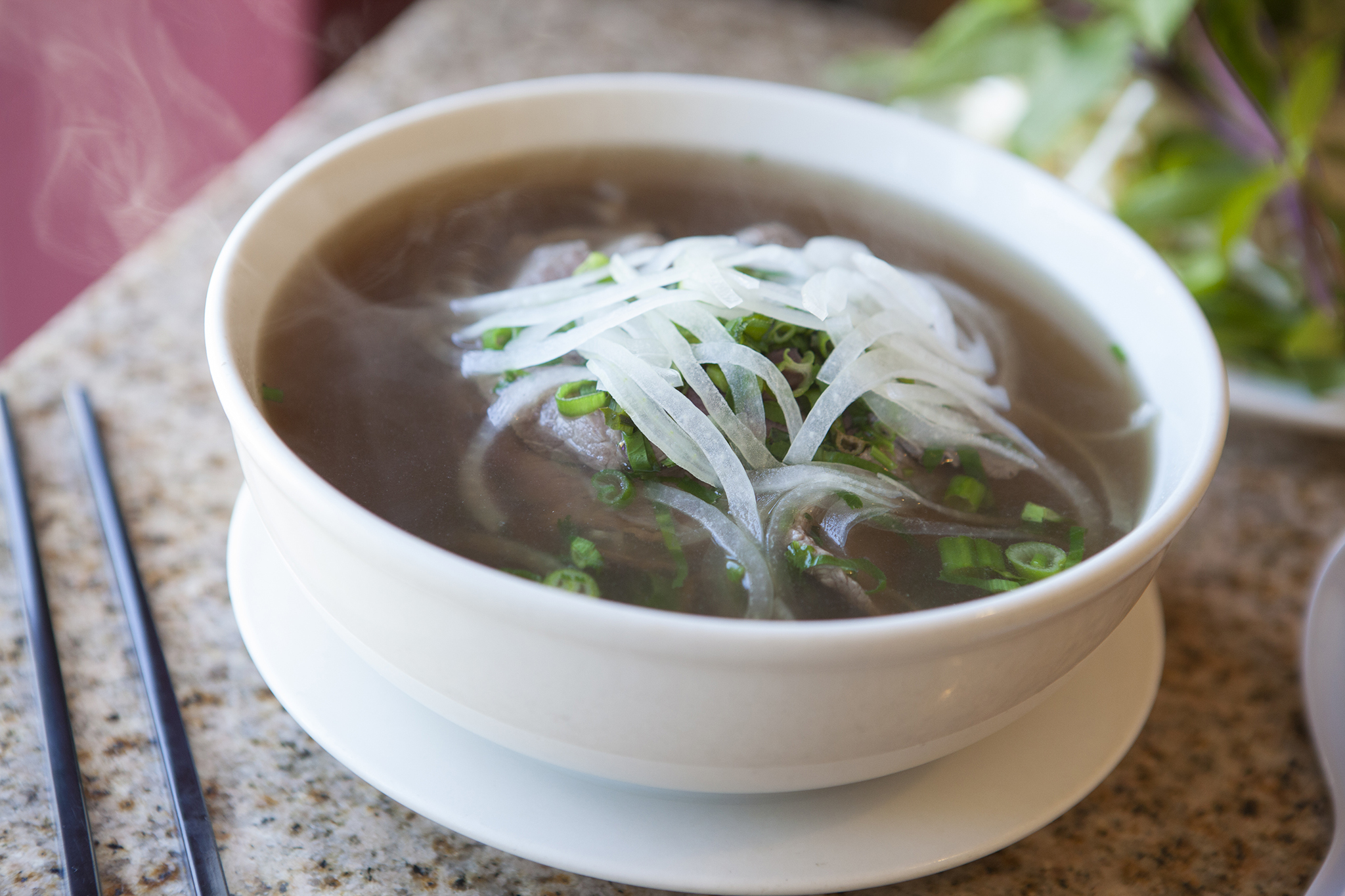 <p>Filet mignon pho at Gigo's Café</p>