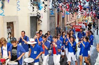 Grallers i tabalers dels Castellers de la Vila de Gràcia