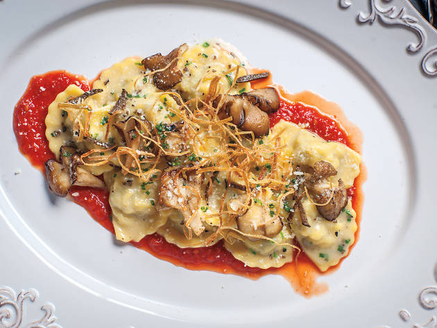 Italian Restaurants In Nyc Corn Ravioli At Locanda Verde
