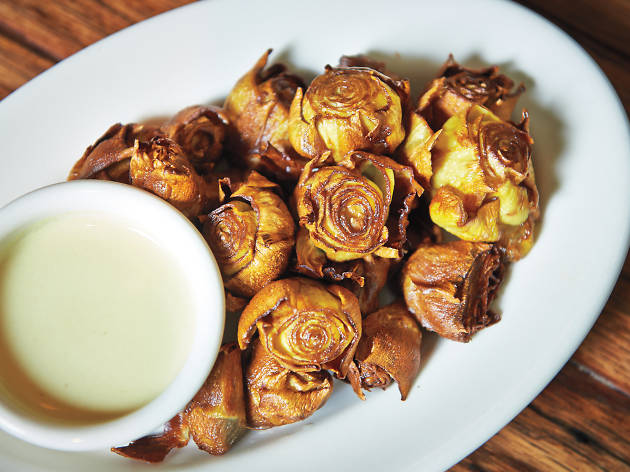 Fried artichokes at Maialino