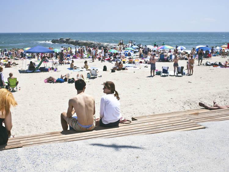 Franklin D. Roosevelt Boardwalk and Beach