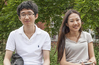 John Ahn and Eny Ahn (20, a student at Imperial College and 29, a school admissions officer)