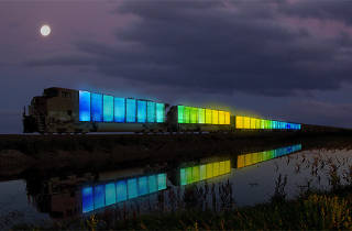 Rendering of Station to Station train by Doug Aitken.