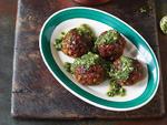 Veggie Balls w/Pesto Sauce. A110111 Meatball Book