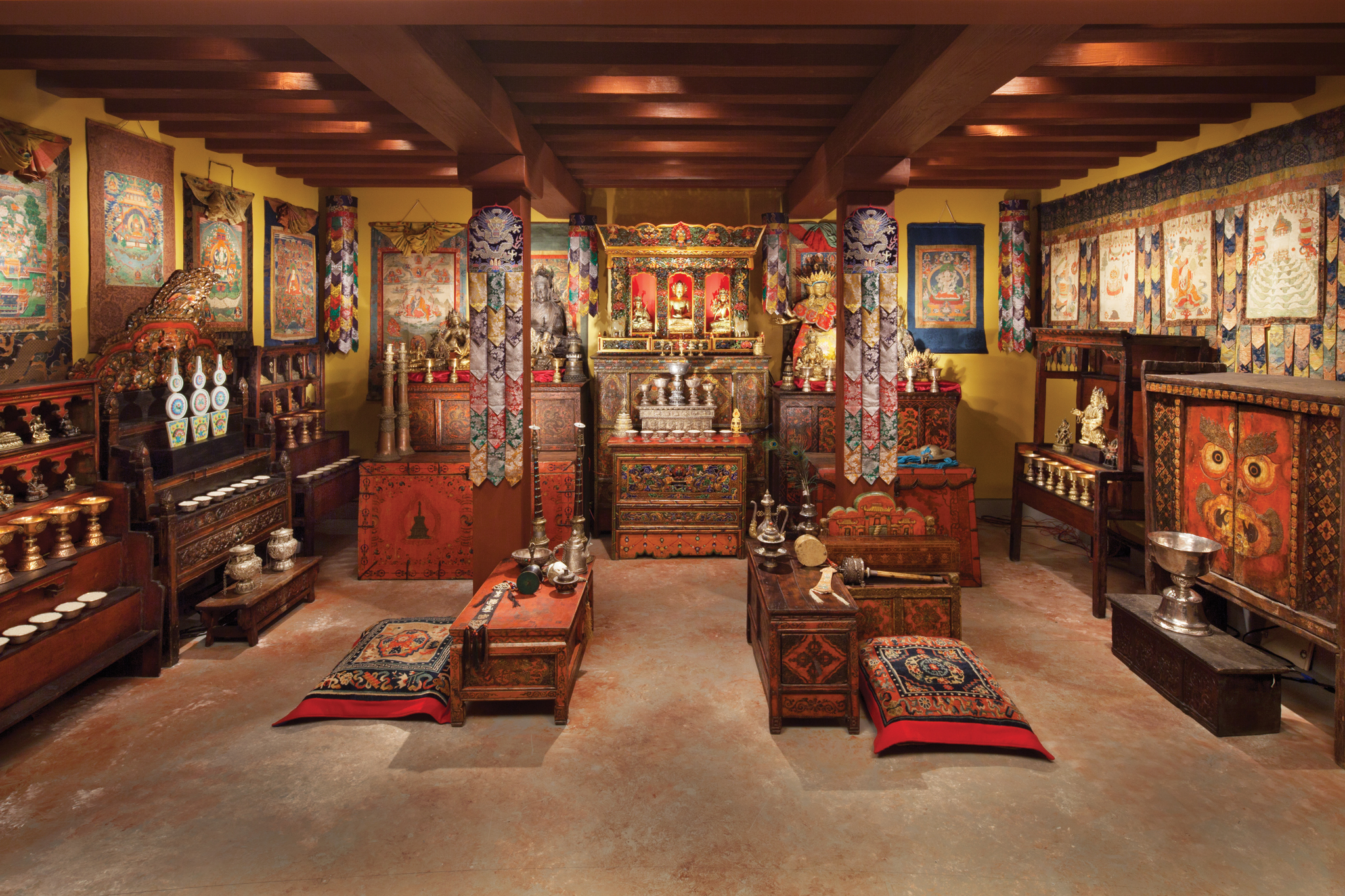 Tibetan Buddhist Shrine Room at the Rubin Museum of Art