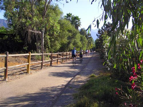 For a scenic two-wheeled tour: Ojai Valley bike trail