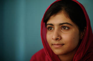 Malala with Christiane Amanpour
