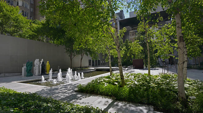 Installation view of The Abby Aldrich Rockefeller Sculpture Garden at The Museum of Modern Art