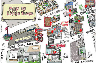 Little Tokyo's best attractions and restaurants (map) on restaurant interior design los angeles, restaurant at lax airport, la bike paths map,