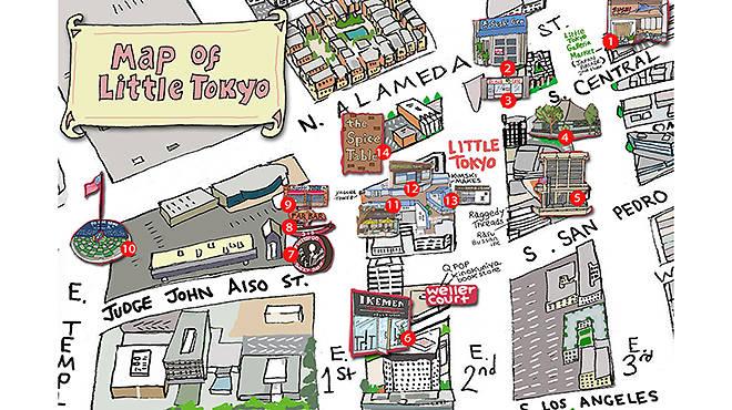 Little Tokyo S Best Attractions And Restaurants Map