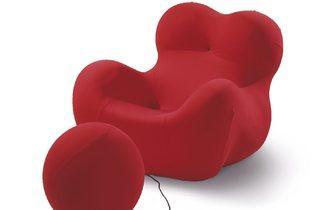 Gaetano Pesce (UP 5 & 6 / La Mamma / Donna, armchair and footrest, 1969)