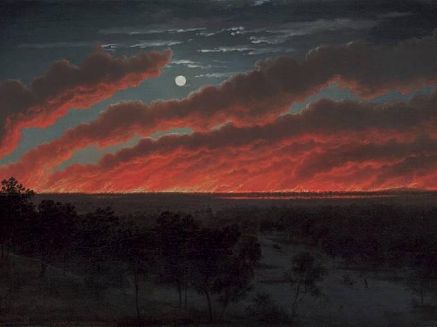 Eugene von Guérard  (Bush Fire, 1859 )