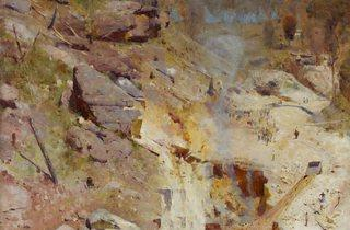 Arthur Streeton  ('Fire's On', 1891 )