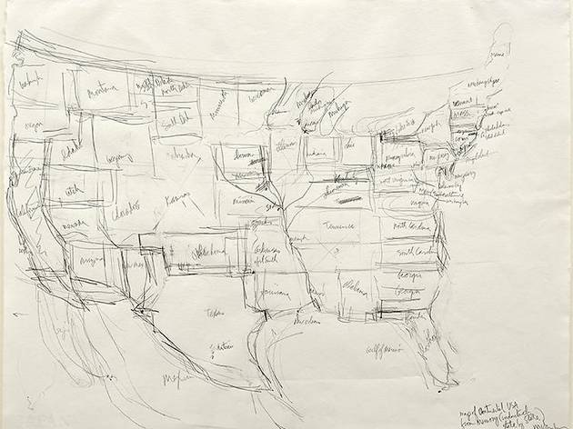 """From Memory: Draw a Map of the United States"""