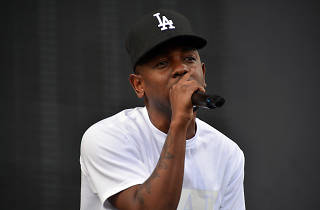 Kendrick Lamar performs at the 2013 Made in America Festival in Philadelphia on September 1, 2013.