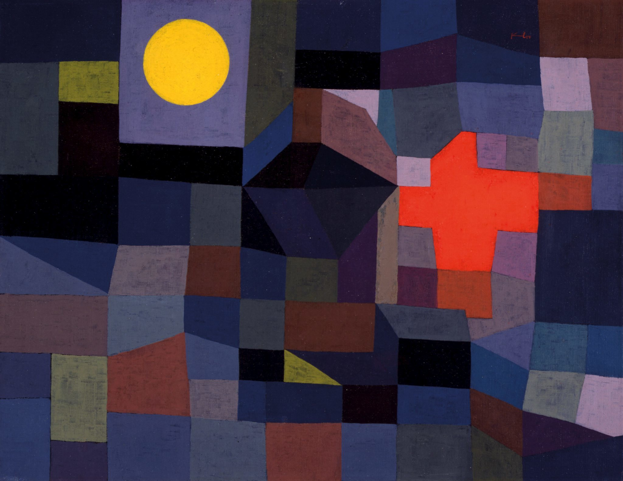 Paul Klee, 'Fire at Full Moon', 1933