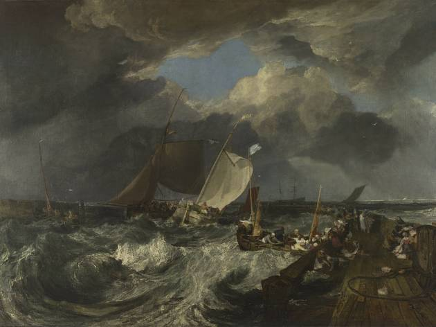 JMW Turner ('Calais Pier, with French Poissards Preparing for Sea: An English Packet arriving', exh 1803)
