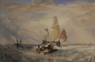JMW Turner ('Now for the Painter' (Rope) – Passengers Going on Board', 1827)