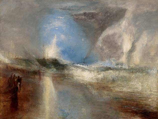 JMW Turner ('Rockets and Blue Lights (close at Hand) to warn Steam-Boats of Shoal-Water', 1840)