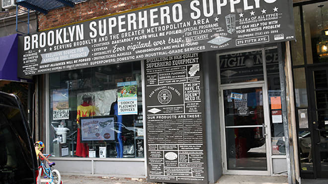 This storefront hides literacy non-profit 826 NYC in the back.