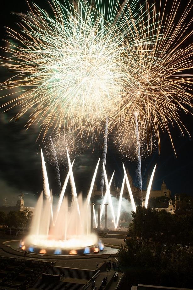 Pyromusical show