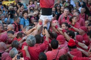 Mercè 2013: 'Castellers' parade and party