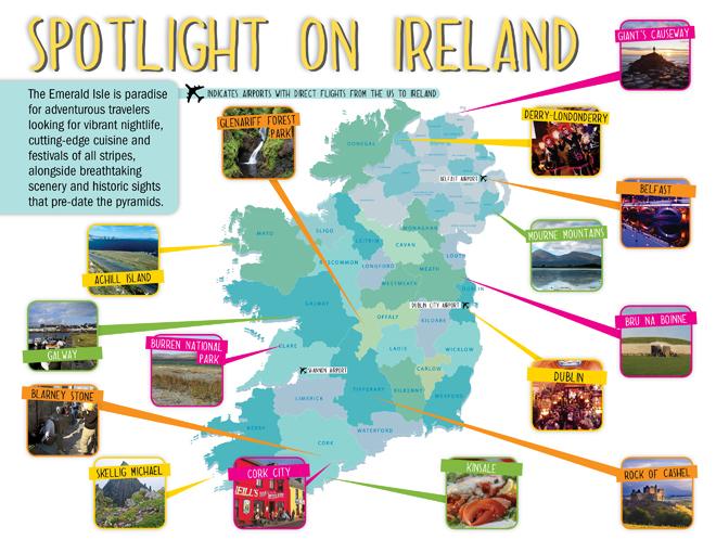 Spotlight on Ireland map