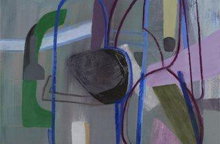 Amy Sillman ('Untitled (Purple Bottle)')