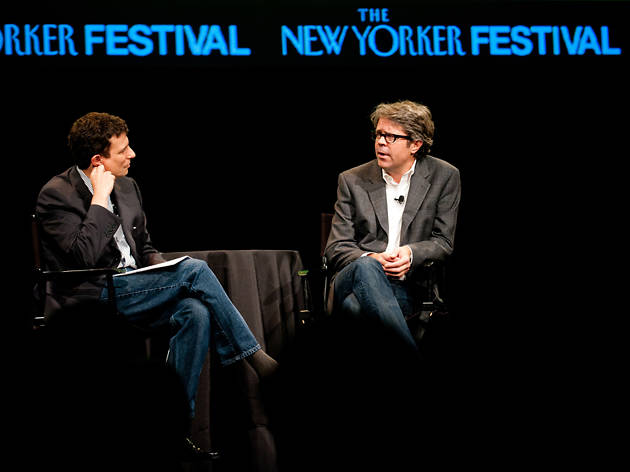 David Remnick and Jonathan Franzen at the New Yorker Festival