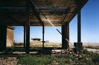 Jane & Louise Wilson ('Blind Landing, H-bomb Test Facility, Oford Ness, Suffolk, uk', 2013)