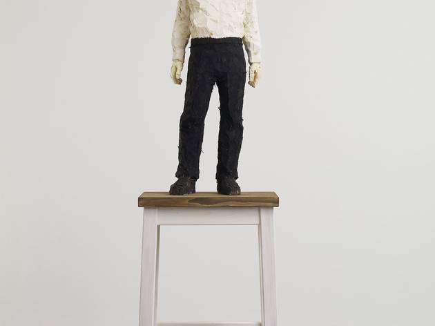 Stephan Balkenhol ('Man with White Shirt and Black Trousers', 2013)