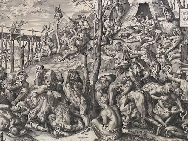 (Pieter van der Heyden d'après Frans Floris, 'L'Érection du serpent d'airain' / ©DR)