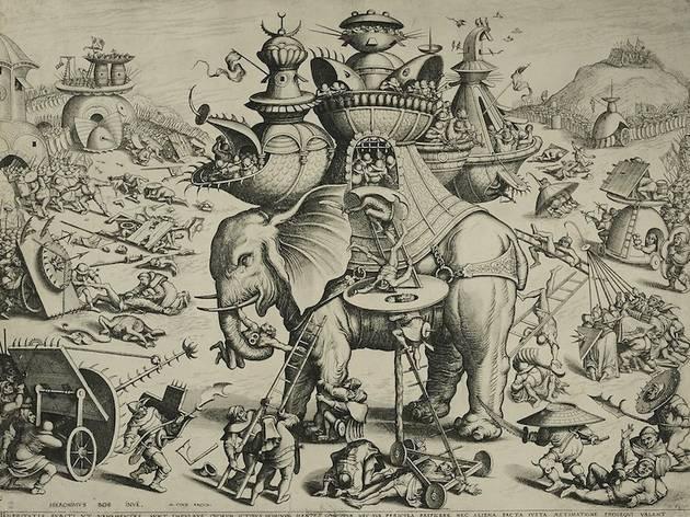 (Joannes et Lucas van Doetecum d'après Jérôme Bosch, 'L'Eléphant de guerre' / ©DR)