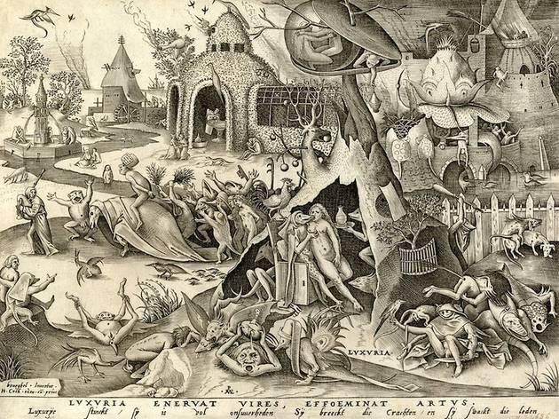 (Pieter van der Heyden d'après Pieter Brueghel l'Ancien, 'Luxuria (la Luxure)', de la série 'Les sept péchés capitaux', détail / ©DR)