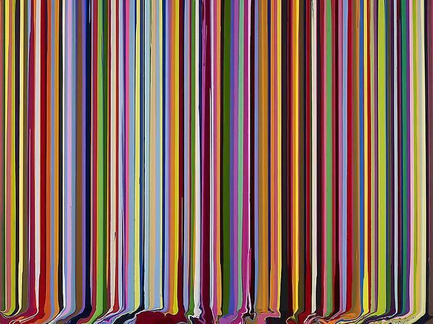 """Ian Davenport, """"Colorfall"""""""