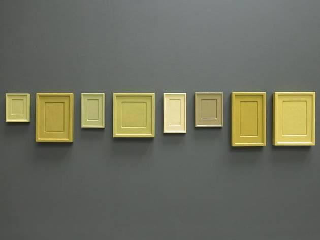 """Allan McCollum, """"Plaster Surrogates Colored and Organized by Andrea Zittel"""""""