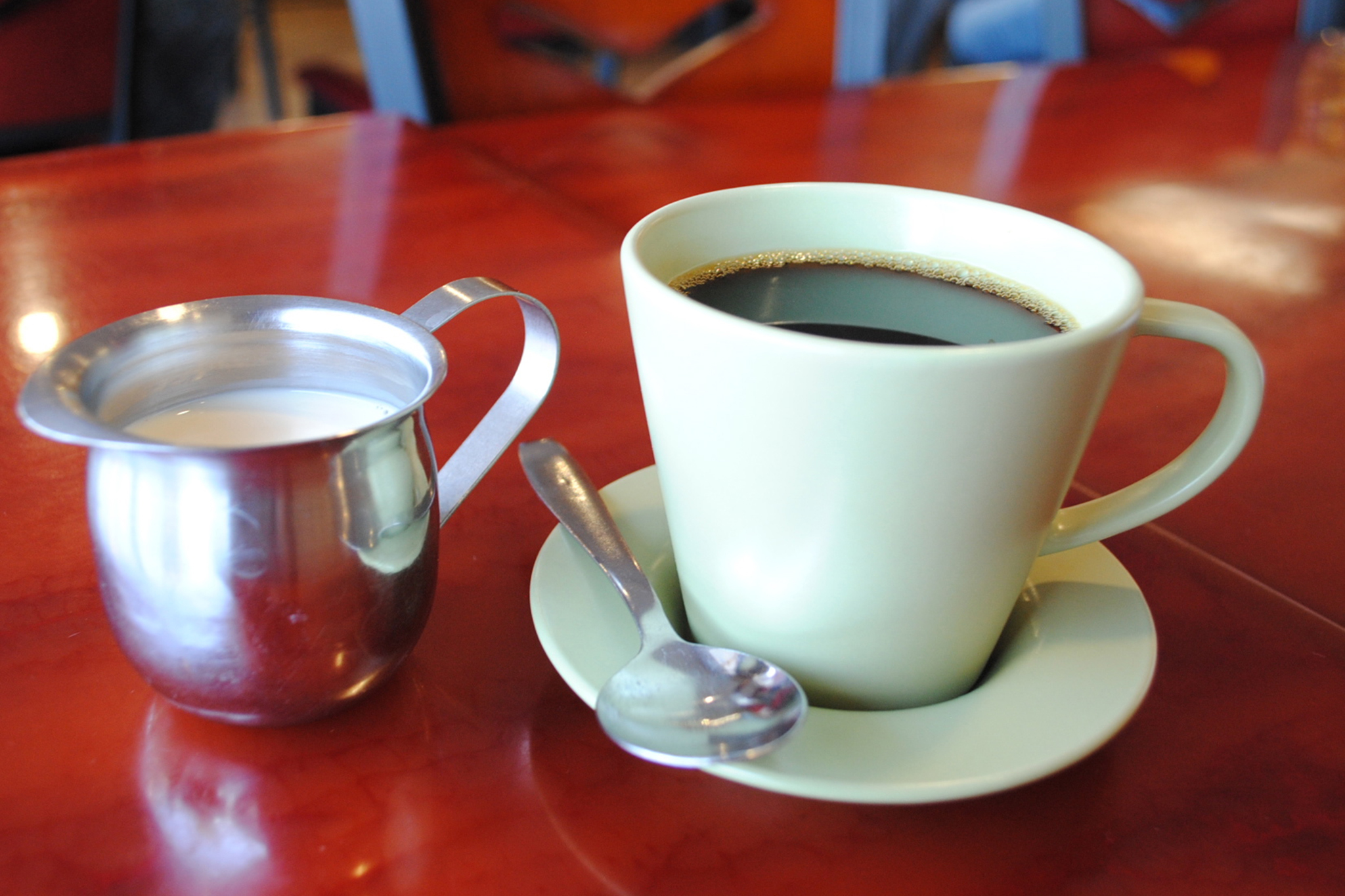 Hong Kong-style coffee at Delicious Food Corner