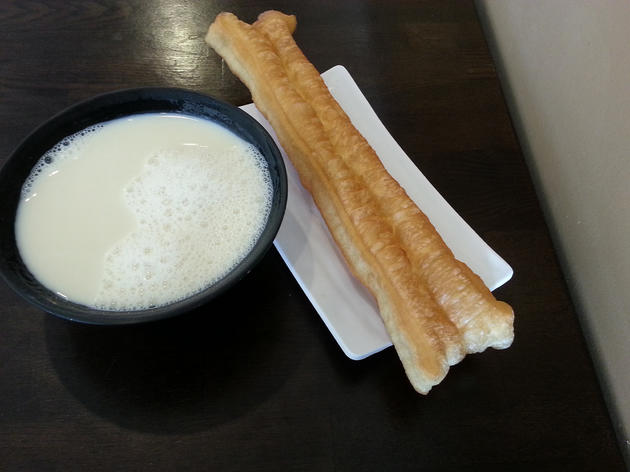 Youiao with soy milk at Yi-Mei