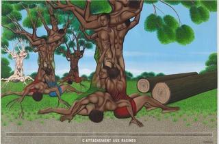 (Chéri Samba, 'L'attachement aux racines' / © Collection particulière)