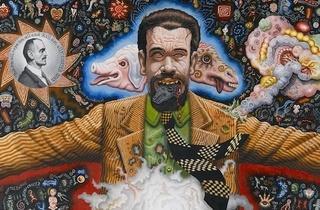 (Joe Coleman, 'Portrait of Professor Mombooze', détail, 1986 / © Collection particulière)