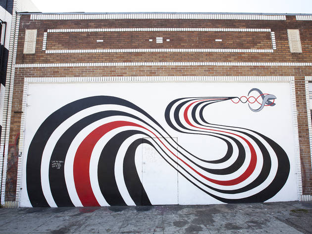 Elliott smith figure 8 mural art in silver lake los angeles for Figure 8 mural