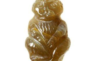 Quartz Cat's Eye Carved Monkey (© Museum of London)