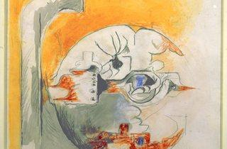 Graham Sutherland ('Fossil with Rocks (Study)', 1975)