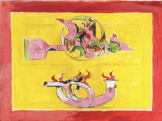 Graham Sutherland ('Firebird (Study for carpet design)', c.1975)