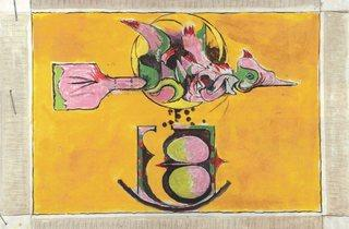 Graham Sutherland ('Bird and Split Rock, (Study for carpet design)', c.1974)