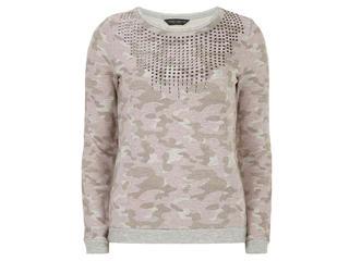 Dorothy Perkins camo sweater, $45, at dorothyperkins.com