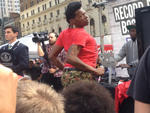 Big Freedia leads a crowd of more than 300 to create a twerk world record.