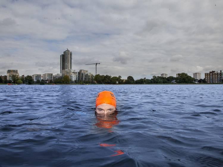 Schedule in an open water swim